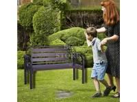 4 Feet Feet Strong Metal Bench Chair House Garden Office Outdoor Sturdy