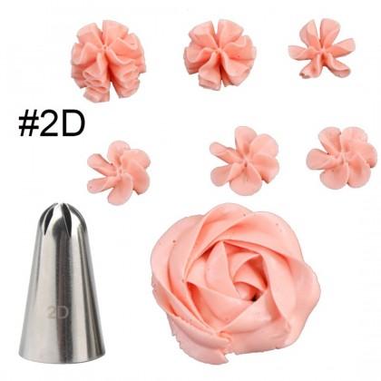 3in1 Icing Piping Nozzles #1M#2D#2F-Set Acuan Aising Kek (3 Saiz)