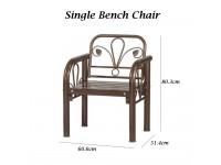 Metal Bench Chair Outdoor Garden Home Living Room Seat Office