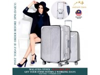 """Transparent PVC Luggage Cover Protector Cases Covers Travel Waterproof and Wearable 20"""" 22"""" 24"""" 26"""" 28"""" 30"""""""