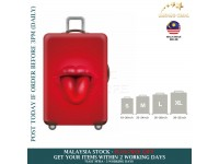 18-30'' RED BIG MOUTH Elastic Travel Luggage Dustproof Cover Trolley Sarung Pembalut Pelindung Bagasi