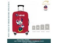 18-30'' RED LOVE MINNIE Elastic Travel Luggage Dustproof Cover Trolley Sarung Pembalut Pelindung Bagasi