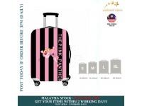 18-30'' STRIPE PINK PANTHER Elastic Travel Luggage Dustproof Cover Trolley Sarung Pembalut Pelindung Bagasi