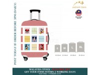 18-30'' PINK MICKEY MINNIE MOUSE Elastic Travel Luggage Dustproof Cover Trolley Sarung Pembalut Pelindung Bagasi