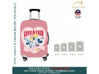 18-30'' PINK MICKEY MINNIE MOUSE DATING Elastic Travel Luggage Dustproof Cover Trolley Sarung Pembalut Pelindung Bagasi