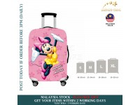 18-30'' PINK YELLOW MINNIE MOUSE Elastic Travel Luggage Dustproof Cover Trolley Sarung Pembalut Pelindung Bagasi