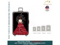 18-30'' RED PRINCESS GOWN Elastic Travel Luggage Dustproof Cover Trolley Sarung Pembalut Pelindung Bagasi