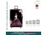 18-30'' WINE RED GOWN PRINCESS Elastic Travel Luggage Dustproof Cover Trolley Sarung Pembalut Pelindung Bagasi