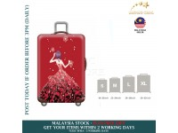 18-30'' RED GOWN LADY Elastic Travel Luggage Dustproof Cover Trolley Sarung Pembalut Pelindung Bagasi