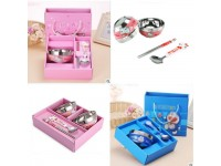 Dinnerware Set Hello kitty / Doraemon / Pooh / SpongeBob with Gift Boxes Stainless Steel Cutlery Plate Set - 1 BOWL SET