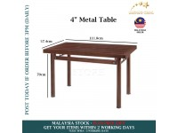 4 Feet Bench Metal Table Outdoor Furniture