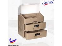 [BUATAN MALAYSIA] Century 2 TIER Dish Drainer Drawer with Cover KITCHEN Storage Rack Rak Pinggan Dapur Rumah Pejabat