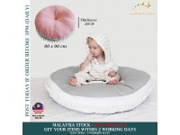 Baby Crawling Mat Round Super Soft Thicken Baby Play Mat Floor Cushion Fluffy Non-Toxic for Kids Baby Girls Boys Toddlers Bedroom