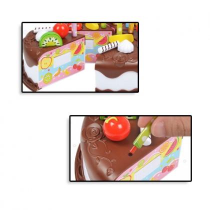 Children's Play House Birthday Cake Toy Little Girl Fruit Cut Music Simulation - Permainan Rumah Kek Budak