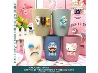 Cartoon Mug 3D Animal Brushing Cup Unicorn Cat Doraemon Hello Kitty Birthday Present Gift for Adult Kids - Gelas Minuman Kartun