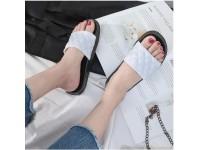 Women Grid Slippers Thick Bottom Slides Indoor Outdoor / Beach Sandals / Casual Flats / Non-Slip - Kasut Casual Wanita