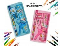 5in1 Stationery Gift Set for KIDS CHILDREN SCHOOL Birthday Party Gift- Set Alat Tulis Kanak Kanak - Hadiah