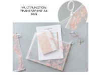 Multifunction Transparent A4 Bag Student Paper Plastic Storage Translucent – Mini File - Beg Lut Sinar