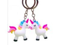 Rainbow PVC Unicorn Keychain for Kids Men Women Bag Phone Key Chain - Loket Gantung Kunci