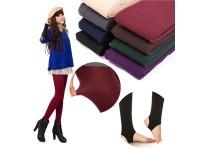 Women Winter Soft Fleece Lined Warm Thick Stretchy Stirrup Pantyhose Leggings Sock - Seluar Legging Wanita