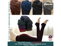 Leggings Open Foot Fleece Lined Thermal Slim Skinny Stretch Warm Winter for Women - Seluar legging Wanita
