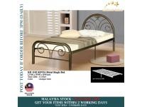 KINTA Metal Single Bed / Metal Bed / Bedroom Furniture / Durable / Katil Single / Katil Besi - ANTIQUE GOLD