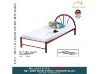 6 Feet Metal Single Bed / Metal Bed / Bedroom Furniture / Katil Single / Durable / Katil Besi - MAROON