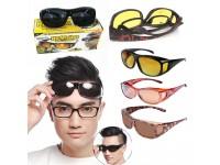 HD Night Vision Wraparounds Wrap Around Glasses - Cermin Mata Malam Silau