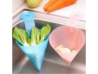 New Fordable Kitchen Vegetable Drain Pot Drainer Leaking Basket Space Save - Bekas Penapis Air Sinki