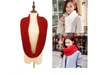 Knitted Circle Wool Scarves Shawl Wrap Winter Warm Collar Pashmina Scarf - Skaf Kolar