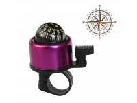 Metal Ring Handlebar Bell Sound Alarm for Bike with Compass PURPLE - Loceng Basikal