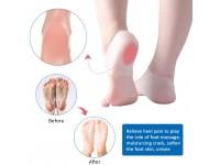 2pcs Silicone Heel Protector Gel Cover Dry Cracked Relief Feet Care Socks Foot Skin Care Moisturizing - Stokin Gel Kaki