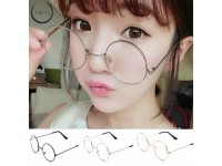 Women Men Casual Retro Round Transparent Glasses Frame Clear - Spek Mata Korea Bulat