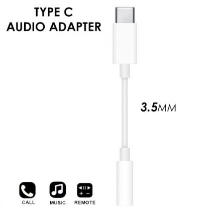 Type C to 3.5mm Audio Headphone Adapter