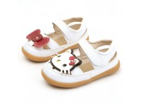 Girls sandals Princess Shoes  Children Baby Sandals Hello Kitty Shoes 15.5cm Length White