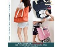 Large Capacity Folding Canvas Travel Shoulder Storage Bag