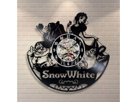 Wall Clock Disney Snow White Vinyl Record, Best Birthday Gift, Silent, Modern Wall Art, Pictures Castle Home Decor - Jam Dinding