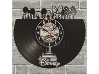 Mickey Mouse Black Skeleton Classic Geometric Vinyl Record Wall Clock
