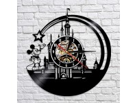 Mickey Mouse Star Castle Vinyl Wall Clock