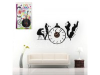 DIY Music Orchestra Wall Clock Sticker Complete Set Great For Home And Office Decoration