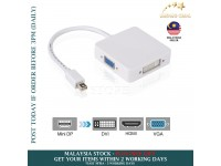 Mini DisplayPort DP Thunderbolt to VGA HDMI DVI Adapter cable 3 in1 for MacBook iMac Air Pro