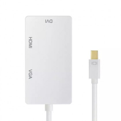 3 in 1 Mini DP to VGA HDMI DVI Adapter