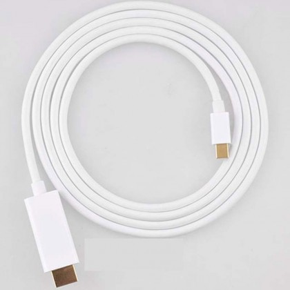 6 Feet Mini DP to HDMI Adapter Cable - WHITE