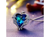 Pendant Necklace Embellished with crystals from Swarovski Heart Necklace Women