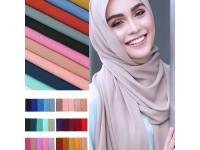 New Plain Chiffon Hijab Scarf Fashion Muslim Large Headscarf Women ladies Scarves Sarong Shawl Elegant Gift