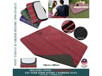 Plaid 150 * 200cm Outdoor Camping Picnic Moisture Pad Waterproof Thicken Mat