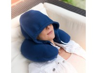 U Shaped Hooded Pillow Cushion Airplane Travel Office Car Rest Neck Sleeping Support