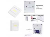 COB LED 3W Ultra Bright Wall Switch AAA Battery Operation Easy Install