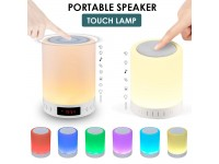 Bluetooth Speaker Touch Lamp LED Night Light Color Changing Portable Waterproof Wireless