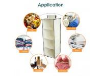 4 Tier Hanging Wardrobe Organizer Clothes Storage